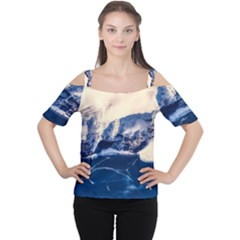 Antarctica Mountains Sunrise Snow Cutout Shoulder Tee