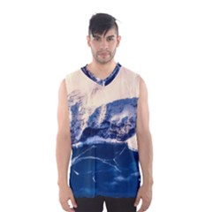 Antarctica Mountains Sunrise Snow Men s Basketball Tank Top