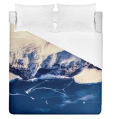 Antarctica Mountains Sunrise Snow Duvet Cover (Queen Size)