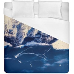 Antarctica Mountains Sunrise Snow Duvet Cover (King Size)