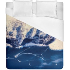 Antarctica Mountains Sunrise Snow Duvet Cover (California King Size)