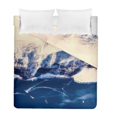 Antarctica Mountains Sunrise Snow Duvet Cover Double Side (Full/ Double Size)