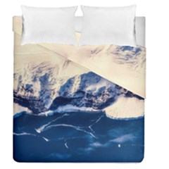 Antarctica Mountains Sunrise Snow Duvet Cover Double Side (Queen Size)
