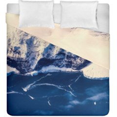 Antarctica Mountains Sunrise Snow Duvet Cover Double Side (King Size)
