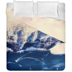 Antarctica Mountains Sunrise Snow Duvet Cover Double Side (California King Size)