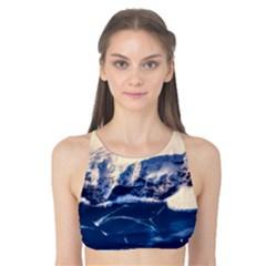 Antarctica Mountains Sunrise Snow Tank Bikini Top