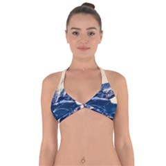Antarctica Mountains Sunrise Snow Halter Neck Bikini Top