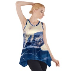 Antarctica Mountains Sunrise Snow Side Drop Tank Tunic