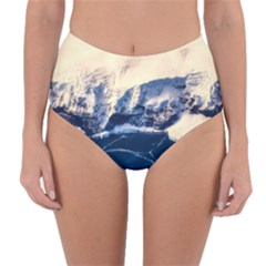 Antarctica Mountains Sunrise Snow Reversible High-Waist Bikini Bottoms