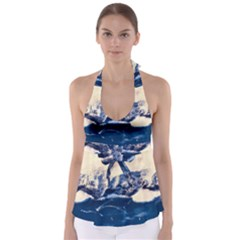 Antarctica Mountains Sunrise Snow Babydoll Tankini Top