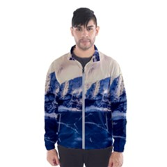 Antarctica Mountains Sunrise Snow Wind Breaker (Men)
