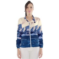 Antarctica Mountains Sunrise Snow Wind Breaker (Women)