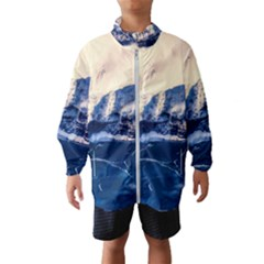 Antarctica Mountains Sunrise Snow Wind Breaker (Kids)