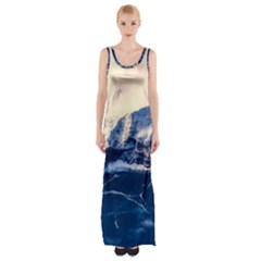 Antarctica Mountains Sunrise Snow Maxi Thigh Split Dress by BangZart
