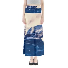 Antarctica Mountains Sunrise Snow Full Length Maxi Skirt
