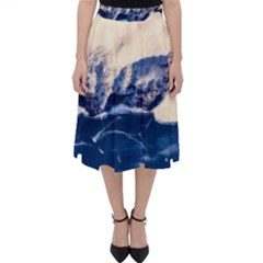 Antarctica Mountains Sunrise Snow Folding Skater Skirt
