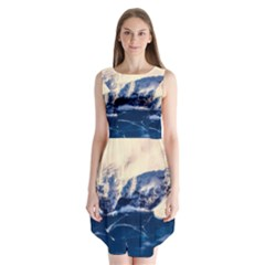 Antarctica Mountains Sunrise Snow Sleeveless Chiffon Dress