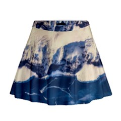 Antarctica Mountains Sunrise Snow Mini Flare Skirt