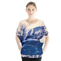 Antarctica Mountains Sunrise Snow Blouse