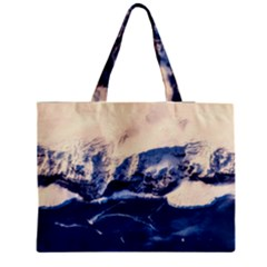 Antarctica Mountains Sunrise Snow Zipper Medium Tote Bag