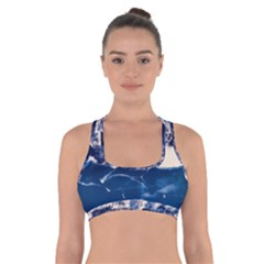 Antarctica Mountains Sunrise Snow Cross Back Sports Bra
