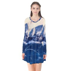 Antarctica Mountains Sunrise Snow Flare Dress