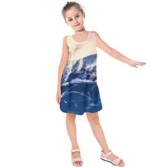 Antarctica Mountains Sunrise Snow Kids  Sleeveless Dress