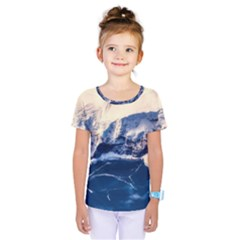 Antarctica Mountains Sunrise Snow Kids  One Piece Tee