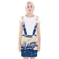 Antarctica Mountains Sunrise Snow Braces Suspender Skirt