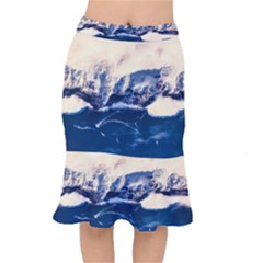 Antarctica Mountains Sunrise Snow Mermaid Skirt