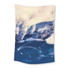 Antarctica Mountains Sunrise Snow Small Tapestry