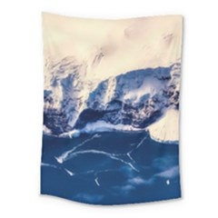 Antarctica Mountains Sunrise Snow Medium Tapestry