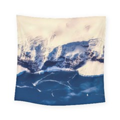 Antarctica Mountains Sunrise Snow Square Tapestry (Small)
