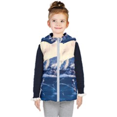Antarctica Mountains Sunrise Snow Kid s Puffer Vest