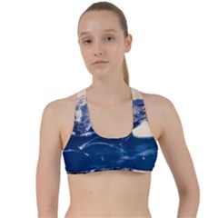 Antarctica Mountains Sunrise Snow Criss Cross Racerback Sports Bra