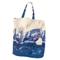 Antarctica Mountains Sunrise Snow Giant Grocery Zipper Tote