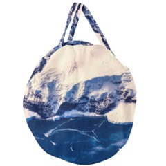 Antarctica Mountains Sunrise Snow Giant Round Zipper Tote
