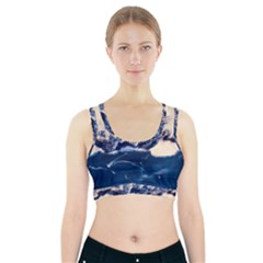 Antarctica Mountains Sunrise Snow Sports Bra With Pocket