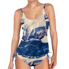 Antarctica Mountains Sunrise Snow Tankini Set