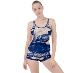 Antarctica Mountains Sunrise Snow Boyleg Tankini Set