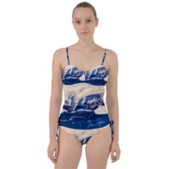 Antarctica Mountains Sunrise Snow Sweetheart Tankini Set