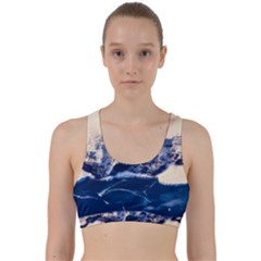 Antarctica Mountains Sunrise Snow Back Weave Sports Bra