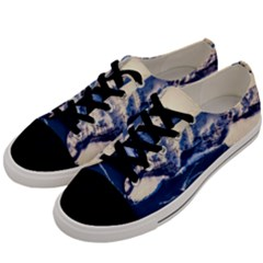 Antarctica Mountains Sunrise Snow Men s Low Top Canvas Sneakers