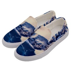 Antarctica Mountains Sunrise Snow Men s Canvas Slip Ons