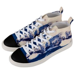 Antarctica Mountains Sunrise Snow Men s Mid-Top Canvas Sneakers
