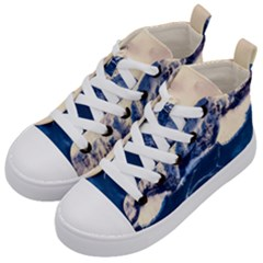 Antarctica Mountains Sunrise Snow Kid s Mid-Top Canvas Sneakers