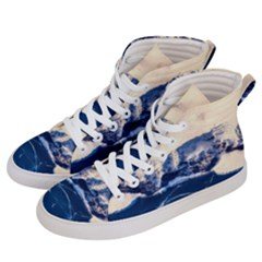 Antarctica Mountains Sunrise Snow Men s Hi-Top Skate Sneakers