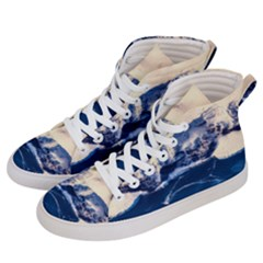 Antarctica Mountains Sunrise Snow Women s Hi-Top Skate Sneakers