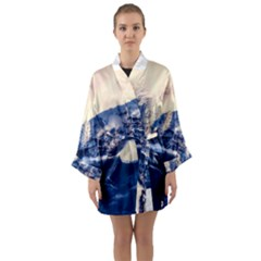 Antarctica Mountains Sunrise Snow Long Sleeve Kimono Robe