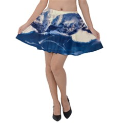 Antarctica Mountains Sunrise Snow Velvet Skater Skirt